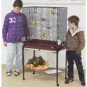 Klec pro ptáky ASYA 72, bordó, s podstavcem - 77 x 44 x 139 cm