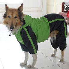 Overal pro psa - zeleno-černý, L - XS