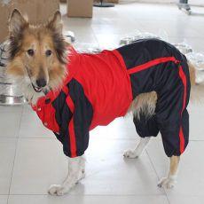 Overal pro psa -  červeno-černý, L - XS