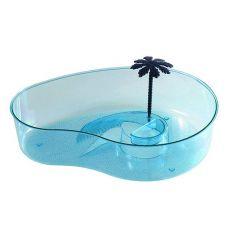 Terárium pro želvy s palmou - světlemodré