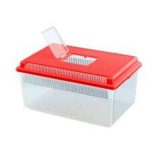 Přepravka pro plazy a hmyz GEO FLAT SMALL - červená, 4l