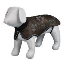 Kabát pro psa s reflexními prvky, hnědý - L / 62 - 75 cm