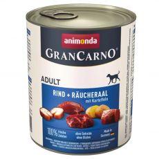 Konzerva GranCarno Fleisch Adult uzený úhoř + brambory - 800 g