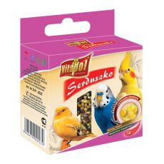 VITAPOL - medové srdíčko pro ptáky, 20 g