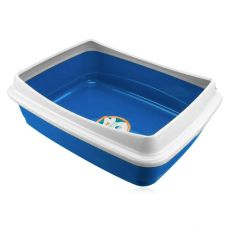 Toaleta pro kočky - modrá, 47 x 36 x 15,5 cm
