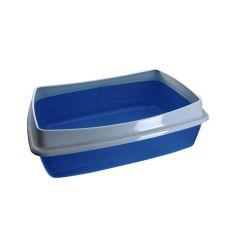 Toaleta pro kočky - modrá - 54,5 x 40 x 18 cm
