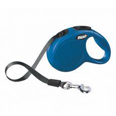 Flexi vodítko New Classic XS do 12 kg, 3m popruh - modré