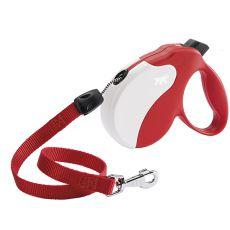 Vodítko Amigo Long do 20 kg - 7m lanko, červeno-bílé