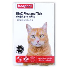 Obojek DIAZ pro kočky proti blechám a klíšťatům - 35 cm