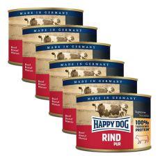 Happy Dog Pur - Rind/hovězí, 6 x 200g, 5+1 GRATIS