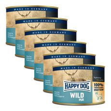 Happy Dog Pur - Wild/zvěřina, 6 x 200 g, 5+1 GRATIS