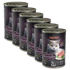 Konzerva pro kočku Leonardo - Králík 6 x 400 g