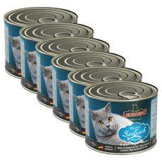 Konzerva pro kočky Leonardo - Ryba 6 x 200 g