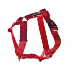 Postroj pro psy, nylonový - červený, 62 - 100 cm