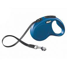 Flexi vodítko New Classic M-L do 50 kg, 5m popruh - modré
