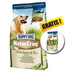 Happy Dog NaturCroq LAMM a REIS 15 kg + 3 kg GRATIS
