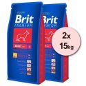 Brit Premium Adult Large 2 x 15kg