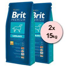 Brit Premium Lamb and Rice 2 x 15kg