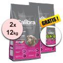 CALIBRA Premium Puppy & Junior 2 x 12 kg + 6 kg