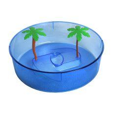Plastové terárium pro želvy - modrý kruh 24,5 cm