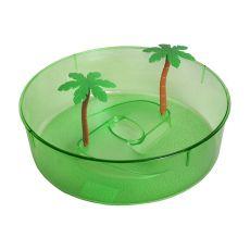 Plastové terárium pro želvy - zelený kruh 24,5 cm