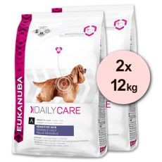 EUKANUBA Daily Care SENSITIVE Skin - 2 x 12 kg