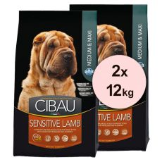 Farmina MO SP CIBAU dog SENSITIVE Lamb MEDIUM & MAXI 2 x 12 kg