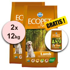 Farmina MO P ECOPET N dog LAMB MEDIUM 2 x 12kg + 4kg GRATIS