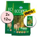 Farmina MO P ECOPET N dog PUPPY mini 2 x 12kg + 4kg GRATIS