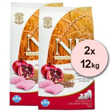 Farmina N&D dog LG PUPPY Chicken & Pomegranate 2 x 12 kg