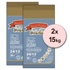 Frank´s Pro Gold Fish and Rice 24/13 se zeleninou - 2 x 15kg
