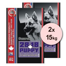 Granule pro štěňata SAURUS 28 Puppy Chicken - 2 x 15 kg