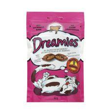 Pamlsky pro kočky - DREAMIES polštářky s hovězím masem, 60 g