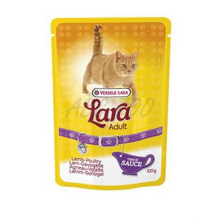 Lara Adult - jehněčí a drůbež v omáčce 100 g