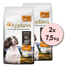 Applaws Dog Adult Small & Medium Breed Chicken 2 x 7,5 kg