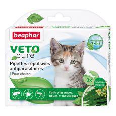 Kapky proti hmyzu pro koťátka, přírodní - 3 ks