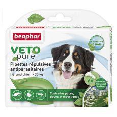 Kapky proti hmyzu pro velké psy, přírodní - 6 ks