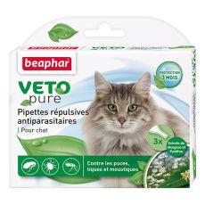 Kapky proti hmyzu pro kočky, přírodní - 3 ks