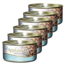 Applaws Cat - konzerva pro kočky s tuňákem, 6 x 70 g