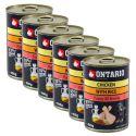 Konzerva ONTARIO Puppy pro psa, kuřecí, rýže a olej - 6x400 g
