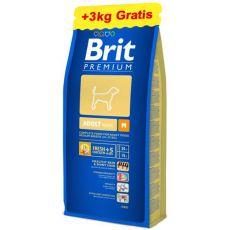 Brit Premium Adult Medium 15kg + 3kg ZDARMA
