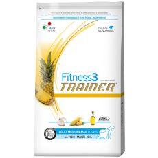 Trainer Fitnes3 Adult MEDIUM & MAXI - ryba a kukuřice 12,5 kg