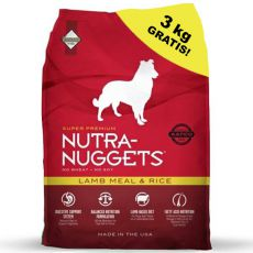 NUTRA NUGGETS Lamb & Rice 15 kg + 3kg ZDARMA