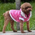 Bunda pro psa s odepínatelnou kapucí - růžová, L