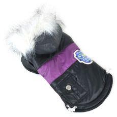 Bunda pro psa s nášivkou - černá, XL