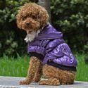 Bunda pro psa s černým lemováním - fialová, M
