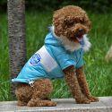 Bunda pro psa s nášivkou - modrá, XS
