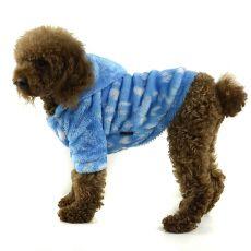 Kabátek pro psa - modrý s kapucí, XL
