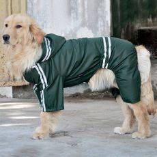 Pršiplášť pro velkého psa reflexní - tmavě zelený, 3XL