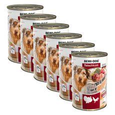 New BEWI DOG konzerva – Drůbež - 6 x 400 g